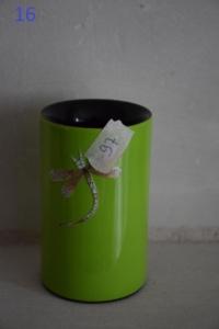 16. Pot à crayons libellule vert (8€)