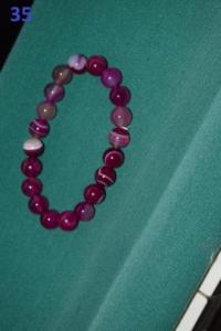 35. Perles roses et transparentes (10€)